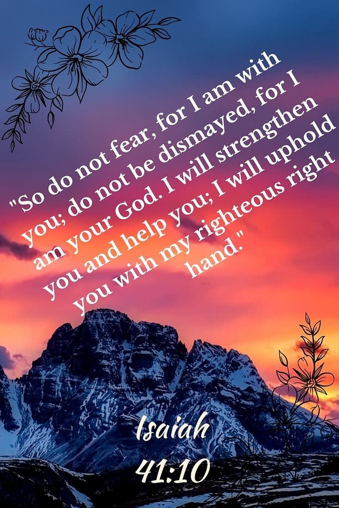 A bible verse written over a mountain with sunset atop showing that there are other 2 ways to talk with God