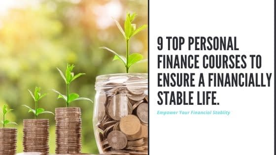 A blog banner showing growth of money. Personal Finance Courses will equip you with needed knowledge.