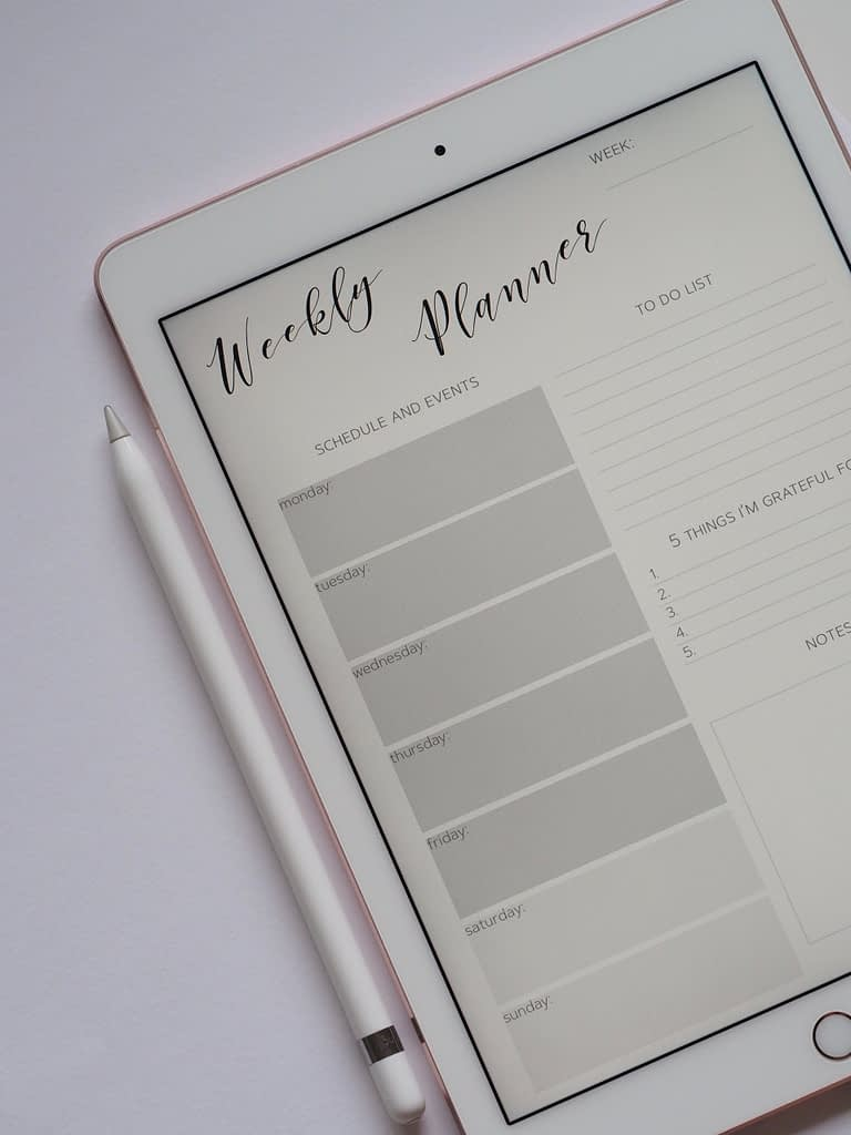 A weekly planner showing a to-do list