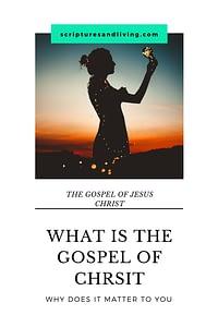 the gospel of Christ Pinterest image